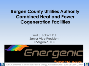 Bergen County Utilities Authority Combined Heat and Power