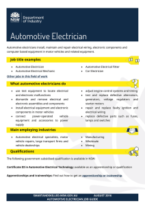 Automotive Electrician