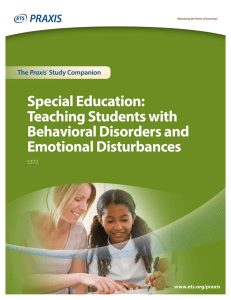 Special Education: Teaching Students with Behavioral