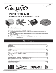 Parts Price List - Heatcraft Worldwide Refrigeration