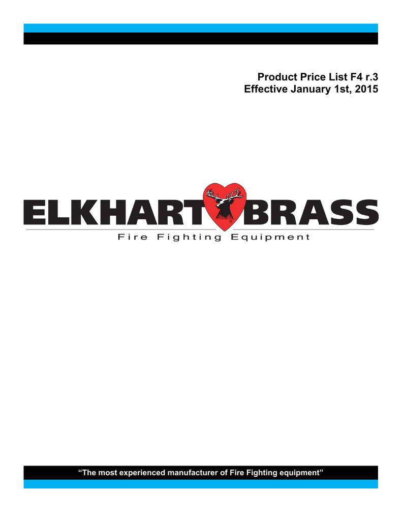 00623001 Elkhart Brass Model ST-191A Master Stream Triple Stack Smooth Bore Tip
