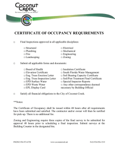 certificate of occupancy requirements