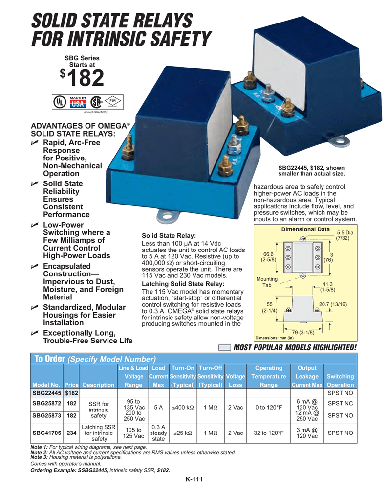 Intrinsically Safe Solid State Relays Ssr 125 Wiring Diagram Get Free Image About