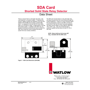 SDA Card Shorted Solid State Relay Detector