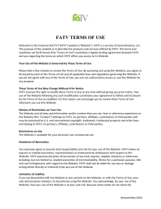 Terms of Use - Financial Aid TV