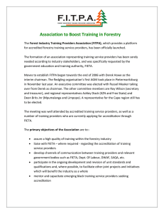 The Forest Industry Training Providers Association (FITPA), which