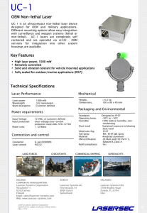 Technical Specifications OEM Non-lethal Laser