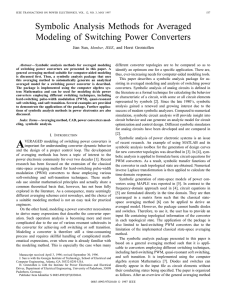 Symbolic Analysis Methods For Averaged Modeling Of Switching
