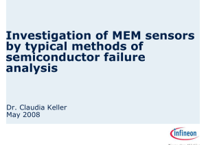 Investigation of MEM sensors by typical methods