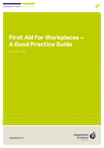 First aid for workplaces - a good practice guide