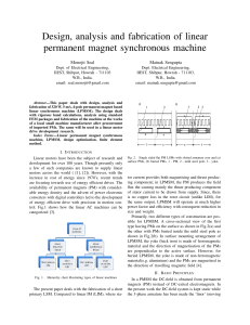 Design, analysis and fabrication of linear permanent magnet