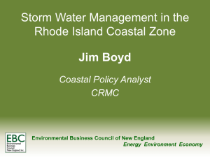 Storm Water Management in the RI Coastal Zone