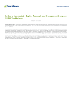 "Capital Research and Management Company (""CRMC"")"
