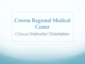 Clinical Instructor Orientation CRMC