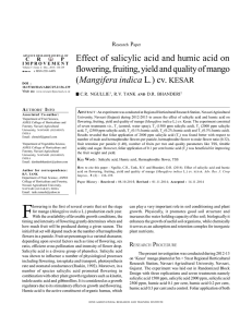 Effect of salicylic acid and humic acid on