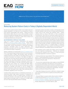 Reducing System Failure Costs in Today`s Digitally Dependent World