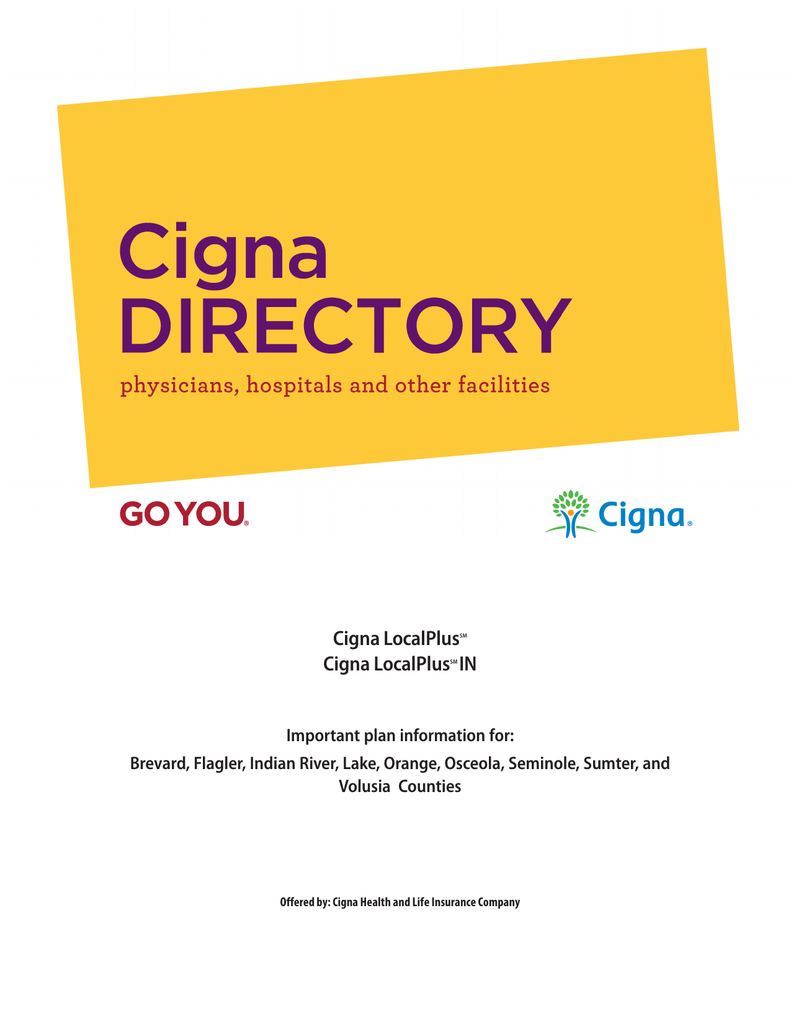 cigna local plus provider list