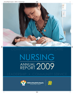 Nursing Annual Report for 2009 - Children`s Hospital Los Angeles