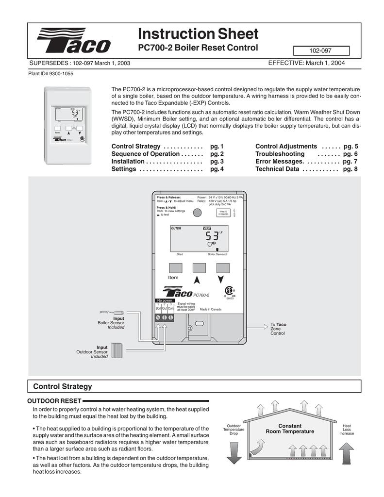 Instruction Sheet Taco Expandable Relay Wiring Diagram