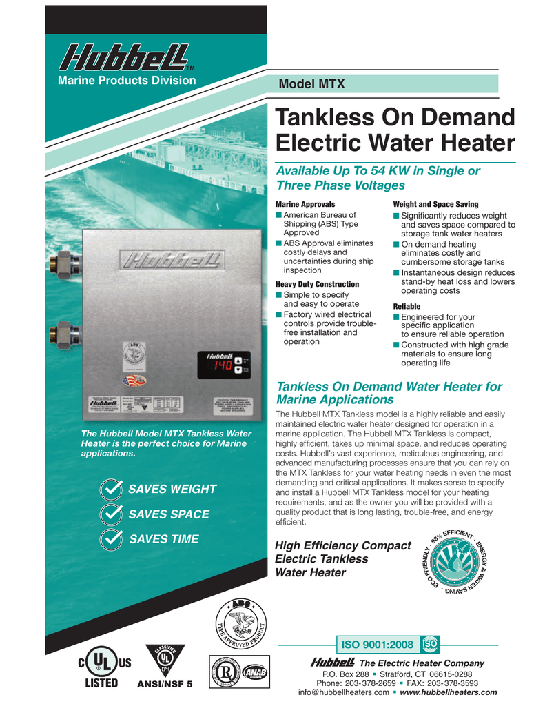 Tankless On Demand Electric Water Heater