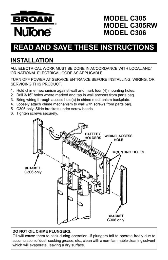 Nutone Door Chime InstructionsStudyLib