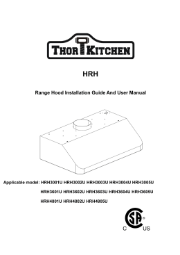 Range Hood Installation Guide And User Manual