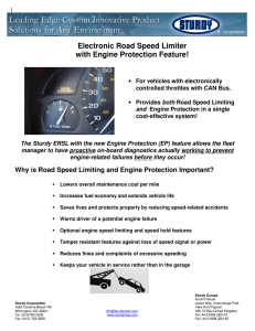 Electronic Road Speed Limiter with Engine Protection Feature!