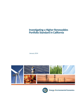 Investigating a Higher Renewables Portfolio Standard in California