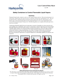 Safety Containers to Control Flammable Liquid Vapors