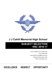 HSC - JJ Cahill Memorial High School