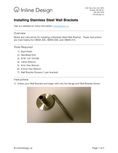 Installing Stainless Steel Wall Brackets