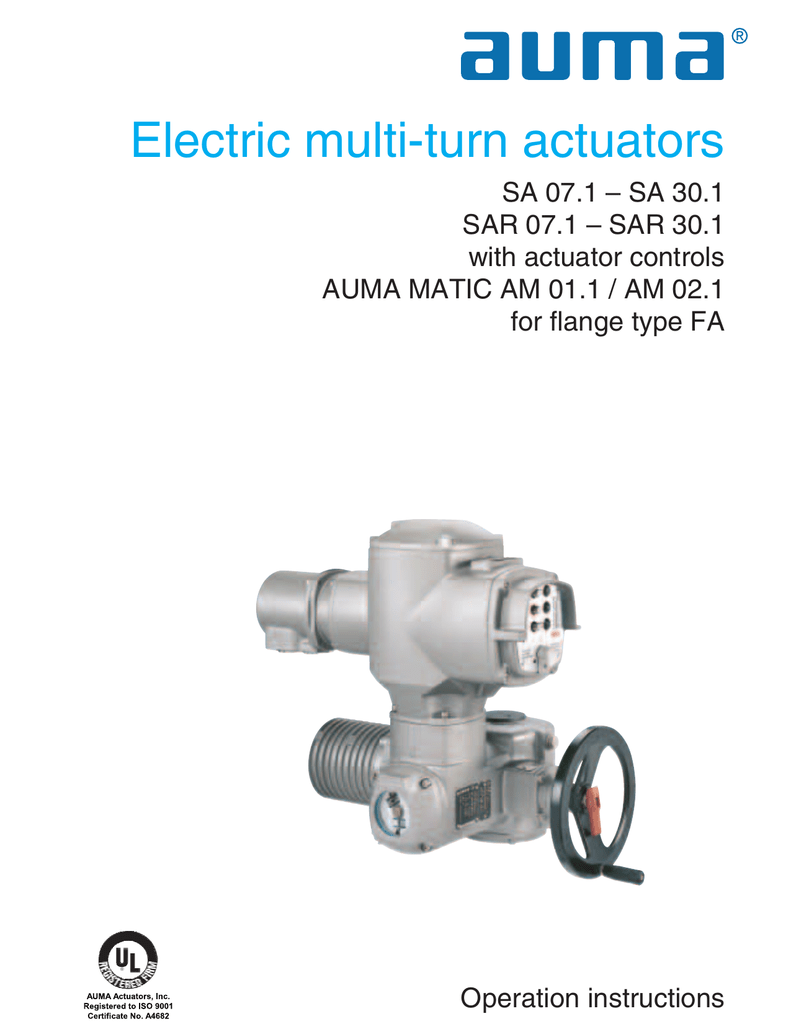 multi turn actuators sa 07 1 sa 30 1 sar 07 1 rh studylib net