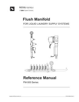 Flush Manifold 500 Manual