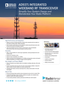 Analog Devices Software Defined Radio