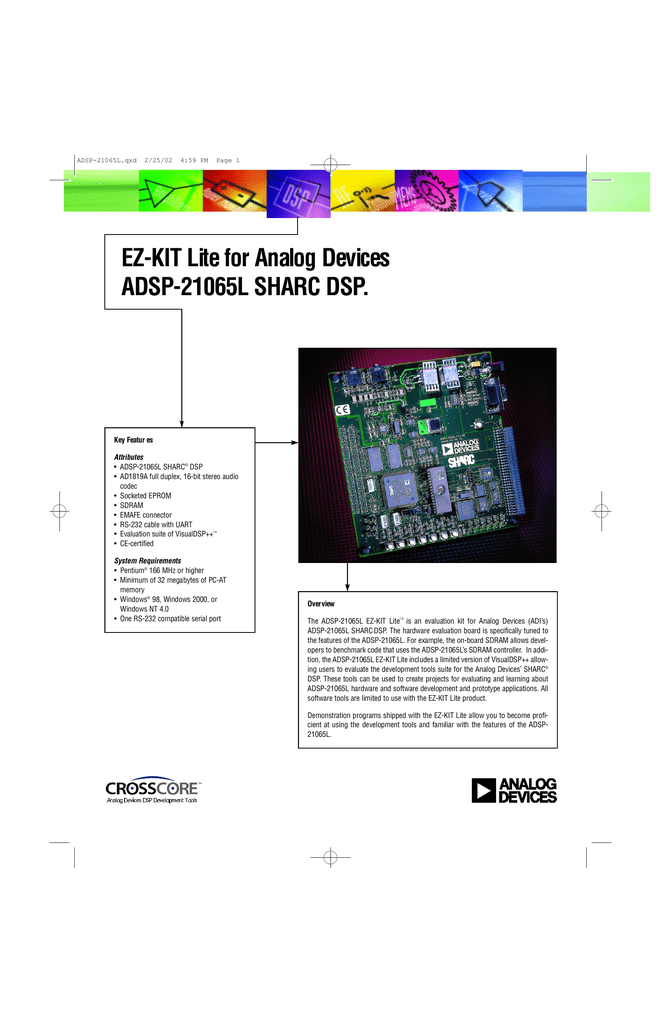 EZ-KIT Lite for Analog Devices ADSP
