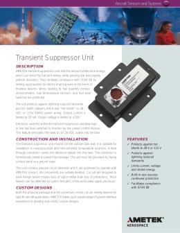 Transient Suppressor Unit - AMETEK Sensors and Fluid