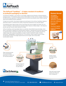 The AirPouch® FastWrap - Automated Packaging Systems