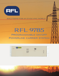 9785 Brochure - April 2013 - RFL Solutions for an evolving world