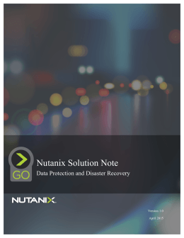 Nutanix Solution Note
