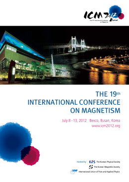 THE 19th INTERNATIONAL CONFERENCE ON