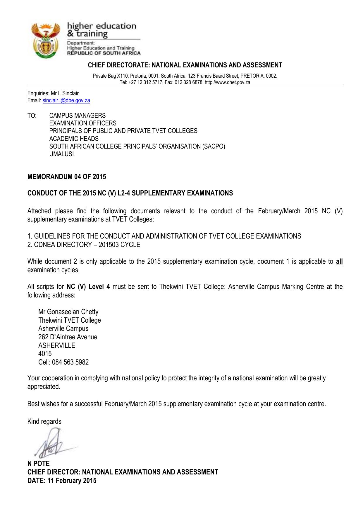 memorandum 04 of 2015 conduct of the 2015 nc v l2 rh studylib net