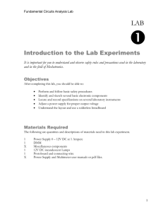 Introduction to the Lab Experiments - create