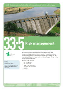Topic guide 33.5 Risk management