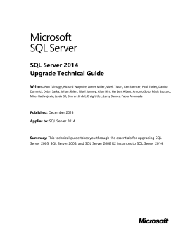 SQL Server Spatial  amp  ArcSDE   Denver Petroleum User Group studylib net SQL Server      Upgrade Technical Guide