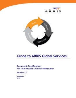 Guide to ARRIS Global Services