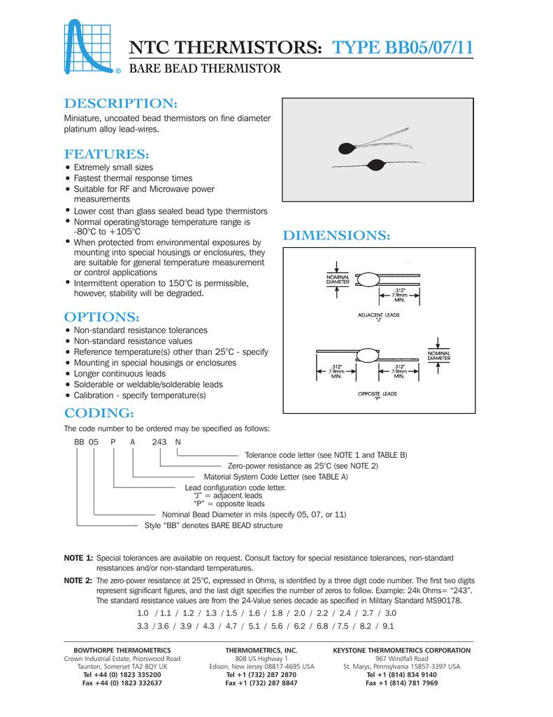 Swell Ntc Thermistors Type Bb05 07 11 Wiring 101 Capemaxxcnl