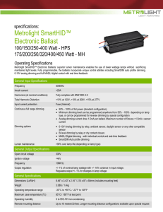 Metrolight SmartHID™ Electronic Ballast