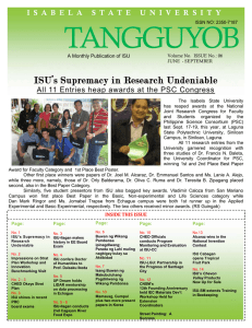 ISU`s Supremacy in Research Undeniable