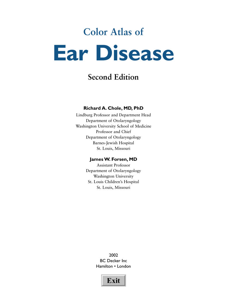 Color Atlas of Ear Disease
