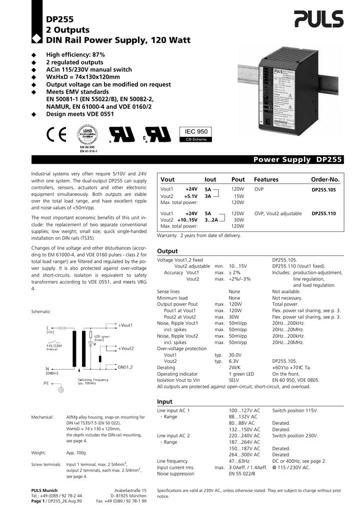 DP255 105 - PULS Power Supply